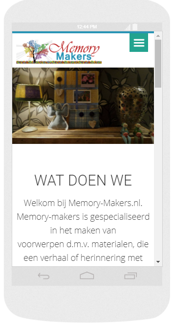 voorbeeld one page website wordpress Update-Website.nl