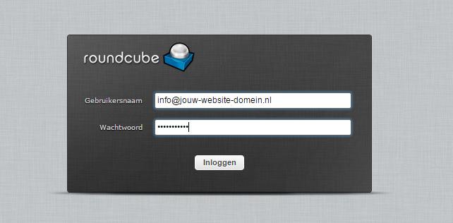 instellen van je e-mail adres