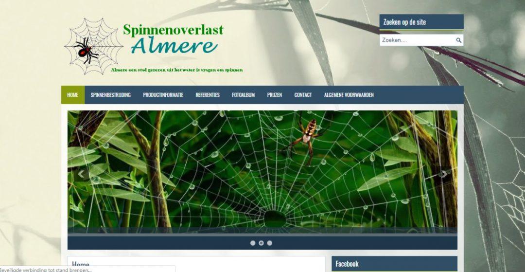 Spinnenoverlast Almere update-website