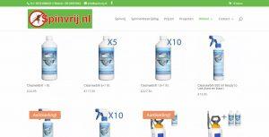 spinvrij update website webdesign